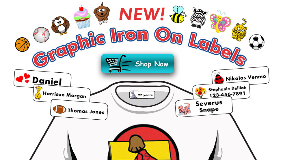 NEW Graphic Iron-on Labels