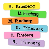 Colored One Line Iron-on Clothing Labels
