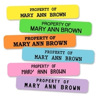 Colored Two Line Iron-on Labels