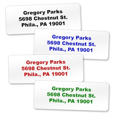 Three Line Large Sticky Labels