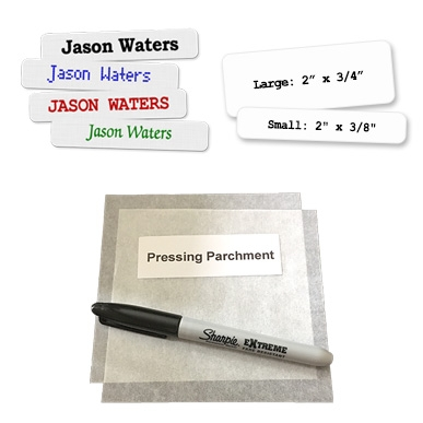 Printed and Blank Iron-on Label Combination